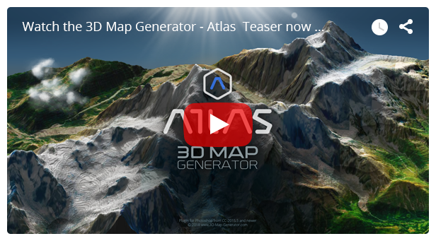 - video - 3D Map Generator – Atlas – From Heightmap to real 3D map