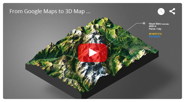 - video 2 - 3D Map Generator – Atlas – From Heightmap to real 3D map