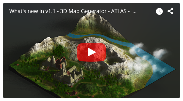 - video 3 - 3D Map Generator – Atlas – From Heightmap to real 3D map