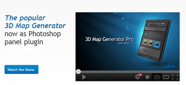 3D Map Generator Pro - Easy Panel