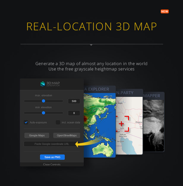 3D Map Generator - Terrain from Heightmap - 2