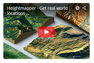 - mini video 3 - 3D Map Generator – Terrain from Heightmap