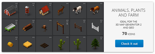 3D Map Generator 2 - Isometric