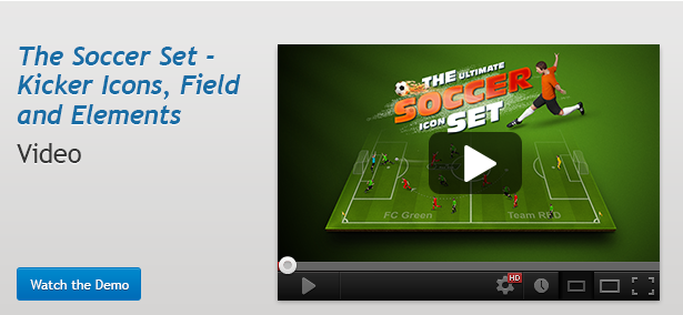 The Soccer Set - Kicker Icons, Field and Elements