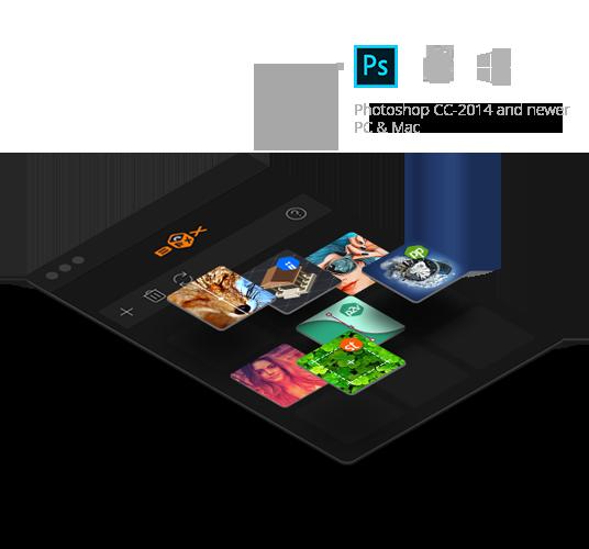 photoshop fx box panel user interface