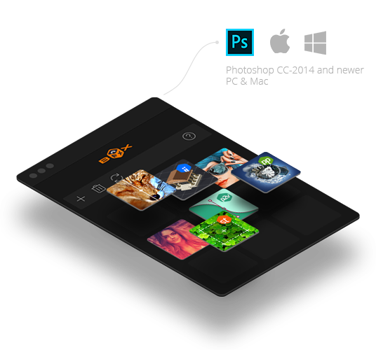 photoshop fx box panel user interface